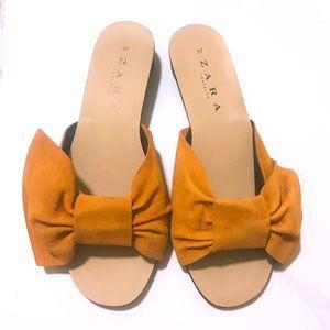 Zara Suede Sandals Size 37
